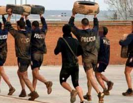 Preparar las pruebas físicas de Policía