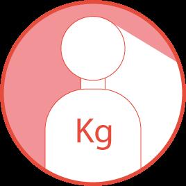 Peso máximo de usuario