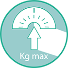 Peso máximo de usuario recomendado: 135kg